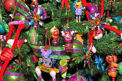 Christmas Tree Decorated with Children's Toys. Stock Photography