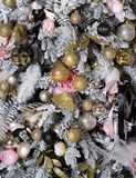 Christmas tree decorated with Christmas presents royalty free stock image