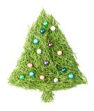 Christmas tree decorated stock images