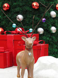 Christmas tree decorated with deer Stock Photo