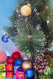 Christmas tree decorated Stock Photography