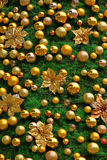 Christmas tree. Decorated with golden Royalty Free Stock Photography