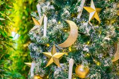 Christmas tree decorated stock image