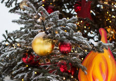 Christmas tree. Decorated Christmas tree. Good background for postcard Royalty Free Stock Photography