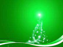 Christmas tree decorated green Stock Photography