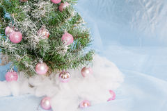 Christmas Tree decorated. Royalty Free Stock Photos