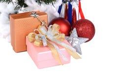 Christmas tree decorated. Stock Photos