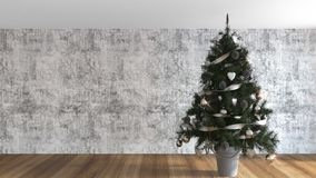 Christmas tree decorated in the living room Royalty Free Stock Photos