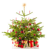 Christmas tree decorated with presents Stock Photography