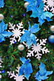Christmas tree. Decorated with snowflakes Stock Image