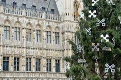 Christmas Tree, decorated with symbols of Riga, capital of Latvia Royalty Free Stock Photography