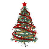 Christmas tree decorated with toys. See my other works in portfolio Royalty Free Stock Photography