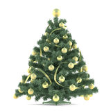 Christmas tree decorated with toys. See my other works in portfolio Royalty Free Stock Image