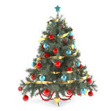 Christmas tree decorated with toys Stock Images