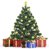 Christmas tree decorated with toys. See my other works in portfolio Stock Photos