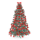 Christmas tree decorated with toys Royalty Free Stock Photos