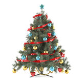Christmas tree decorated with toys Royalty Free Stock Photo