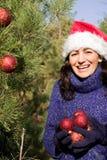 Christmas tree decorating Royalty Free Stock Photos