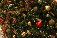 Christmas Tree Decoration. A detail of Christmas Tree decoration at a shopping center Stock Photography