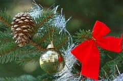 Christmas tree decoration. Christmas decoration on christmas tree Royalty Free Stock Images