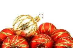 Christmas tree decoration. Isolated on white Royalty Free Stock Images