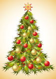 Christmas tree with decoration. Royalty Free Stock Photography