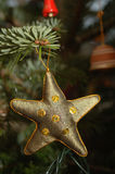 Christmas Tree decoration. A Star christmas tree decoration stock photos