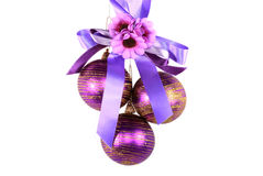 Christmas-tree decoration 2. In many countries of the world, it is accepted to dress up for Christmas a fur-tree various ornaments Stock Image