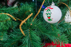 Christmas-tree decoration. S, painted ball tree Royalty Free Stock Image