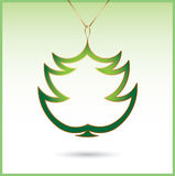Christmas tree decoration. Vector illustration of Christmas tree Royalty Free Stock Photos