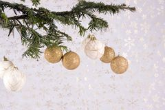 Christmas tree with decoration Stock Photography