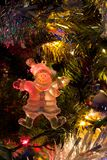 Christmas Tree Decoration. A snowman on a Christmas tree royalty free stock image