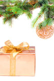 Christmas tree decoration. And gift Royalty Free Stock Images