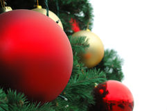 Christmas Tree Decoration. Over white background Stock Images