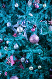Christmas tree decoration background - Abstract colors Royalty Free Stock Photo