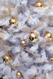 Christmas tree decoration background Royalty Free Stock Image