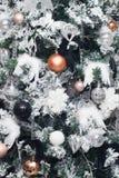 Christmas tree decoration background Royalty Free Stock Photos