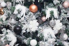 Christmas tree decoration background Stock Image