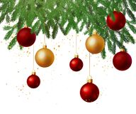 Christmas tree decoration background Royalty Free Stock Photos