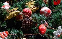 Christmas tree decoration background Royalty Free Stock Photo