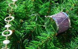 Christmas tree decoration background Royalty Free Stock Images