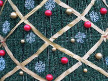 Christmas tree decoration. Background of decorative christmas tree Stock Photo