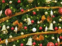 Christmas tree decoration. Background of decorative christmas tree Stock Images