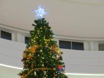 Christmas tree decoration. Background of decorative christmas tree Royalty Free Stock Images