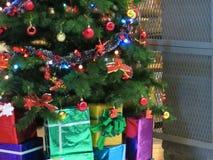 Christmas tree decoration. Background of decorative christmas tree Royalty Free Stock Photography