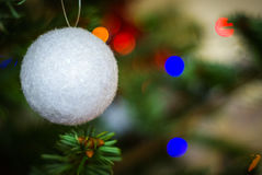 Christmas tree decoration. A ball in a christmas tree Stock Photo