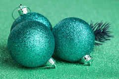 Christmas tree with decoration ball. Branch of Christmas tree with decoration ball Royalty Free Stock Images