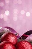 Christmas tree with decoration ball Stock Image