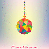 Christmas tree Decoration Ball hipster geometric s Stock Photos