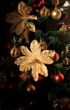 Christmas tree. Decoration with balls, flowers and  sparkles Stock Photo